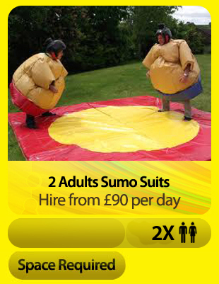2 Adult Sumo Suits