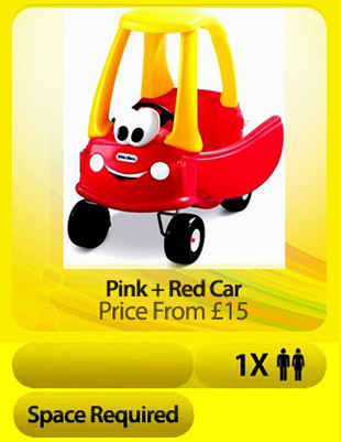 Soft Play Pink + Red Cars