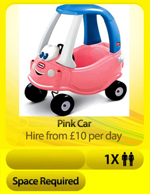 Soft Play Pink Car Surrey
