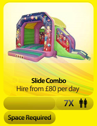 Disco Slide Combo Bouncy Castle