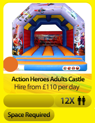 Action Heroes Adult Bouncy Castle