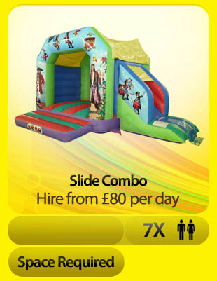 Pirate Combo bouncy castle hire